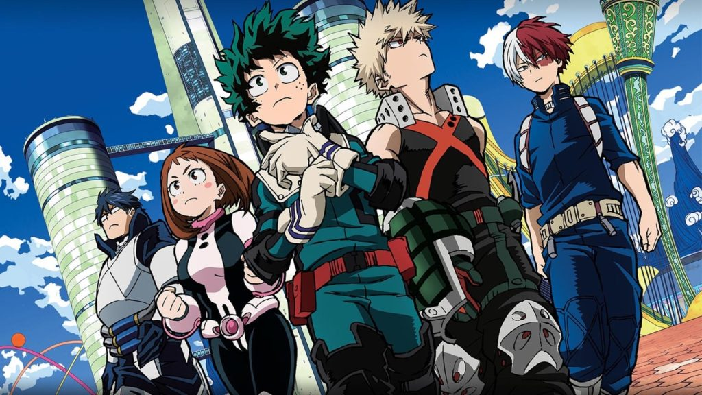 shows like my hero academia